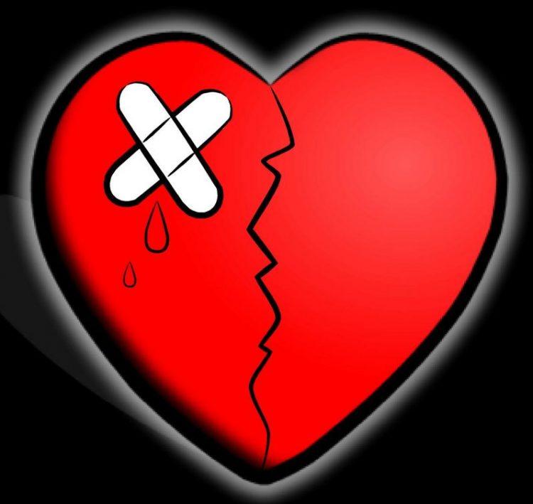 Corazón llorando de tristeza