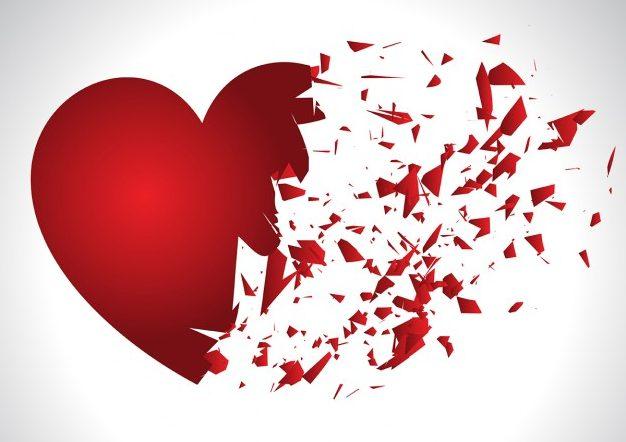 Corazón destrozado por completo