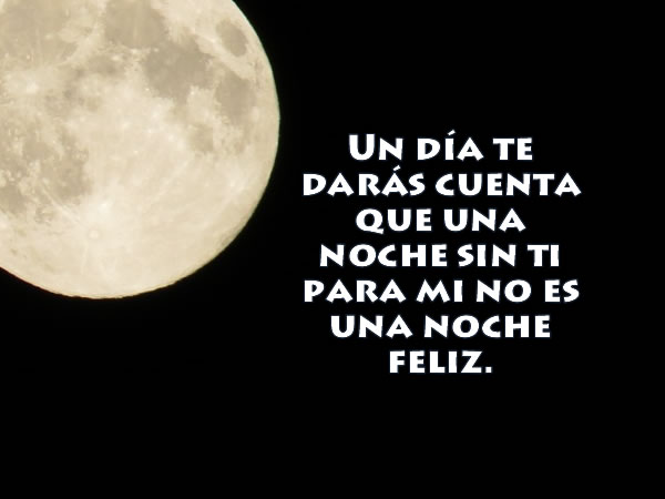 Buenas noches y se feliz