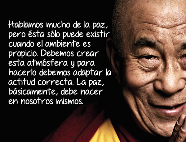Frases del Dalai Lama que te llegarán al corazón.