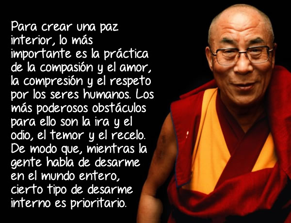 Mensajes del Dalai Lama para aprender en la vida.