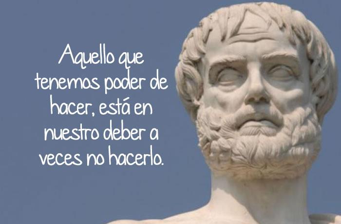 Aristóteles y sus frases