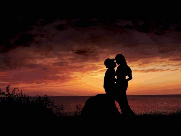 Beso de enamorados