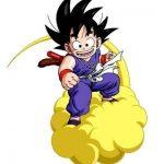 Goku en una nube