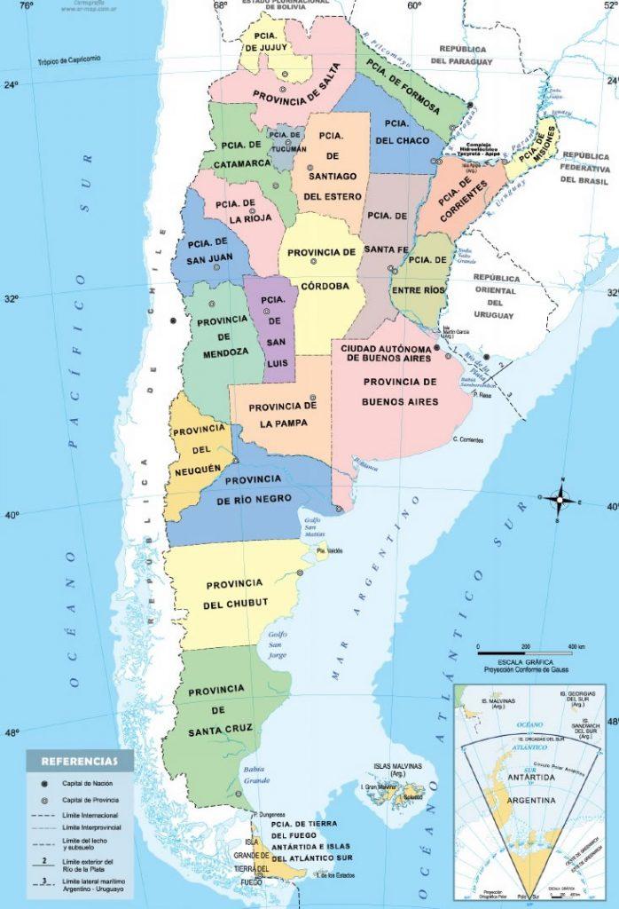 Mapa de las provincias de Argentina