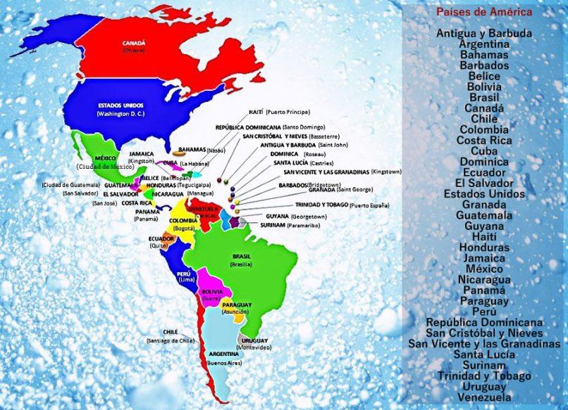 Mapa del América