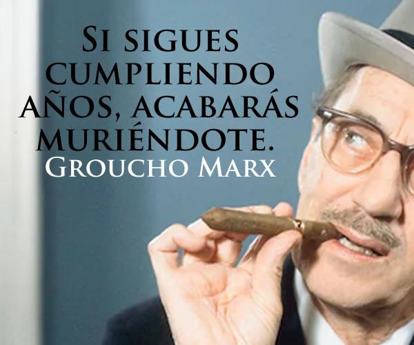 Biografía y frases célebres de Groucho Marx