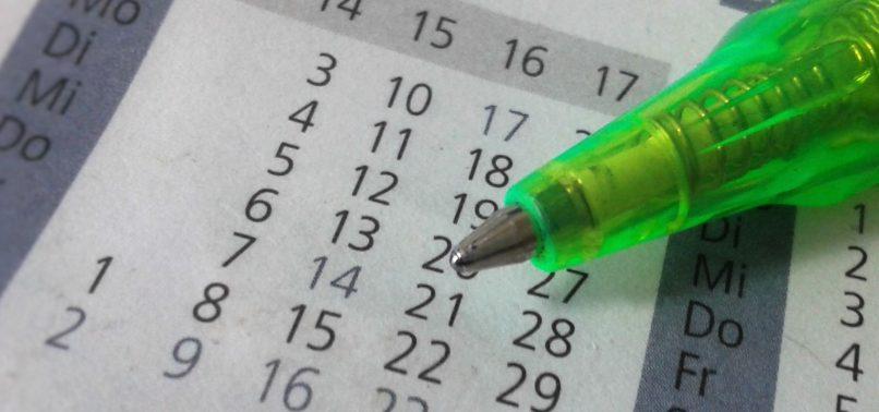Calendario con meses
