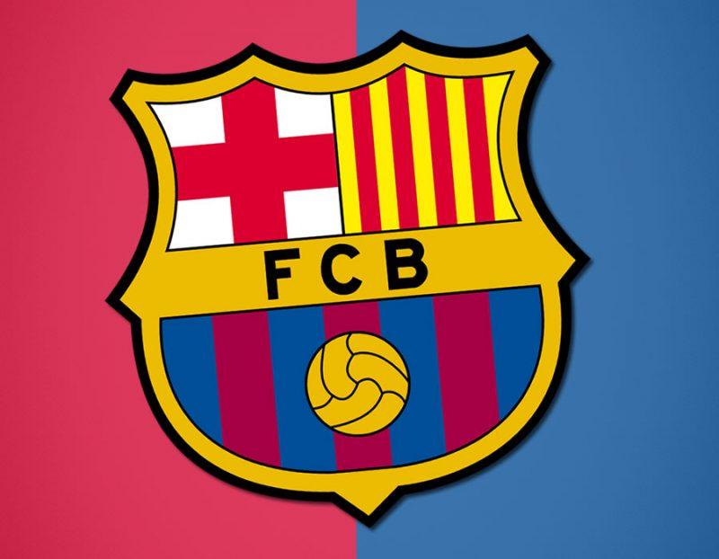 Escudo FC Barcelona con fondo