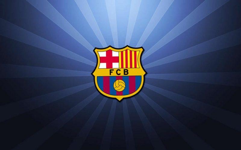 Escudo FC Barcelona con rayos