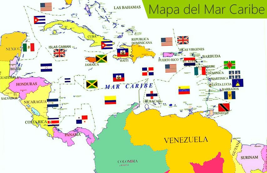 ¿Cuántos países hay en el Caribe?