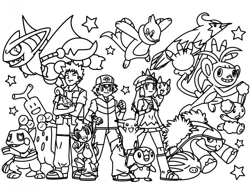 Dibujos de Pokémon para pintar