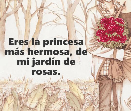 Frase de amor para mi hermosa princesa