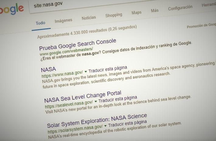 Páginas en Google
