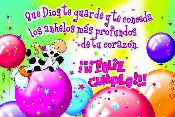 Feliz cumple y que Dios te de todo