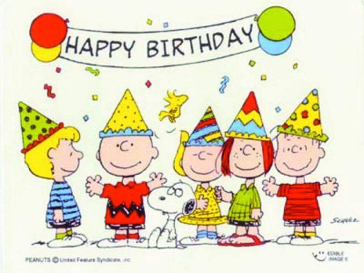 Feliz cumpleaños con Snoopy
