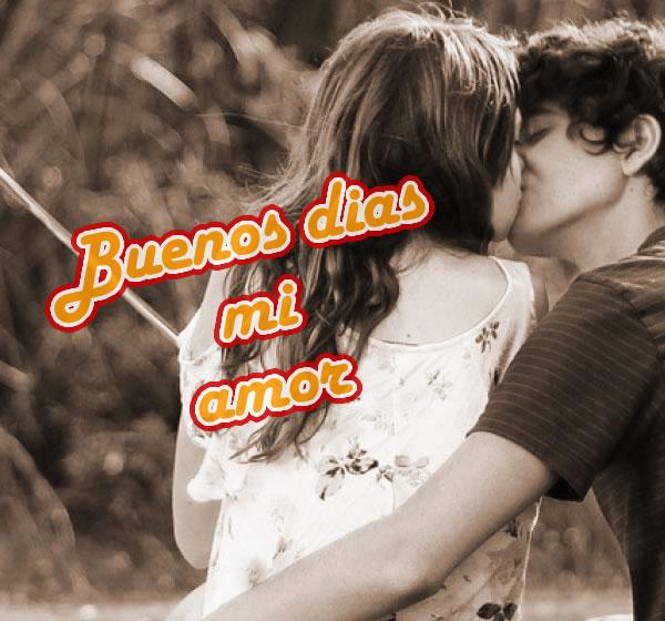 Beso de buenos días amor