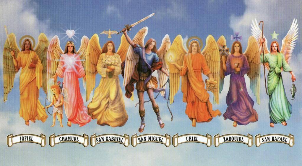 Cuales son los nombres de los 7 arcángeles y sus funciones